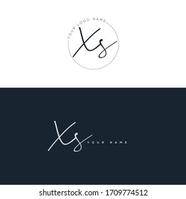X S XS Initial letter handwriting and signature logo.