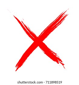 X Vector cross sign.