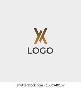 X, WW, WM, MW, MM, AA, AV, VA, VV Logo Design