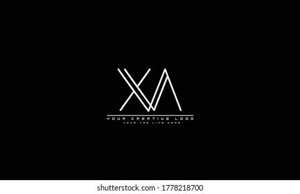 XA AX abstract vector logo monogram template