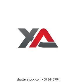 XA company linked letter logo black red