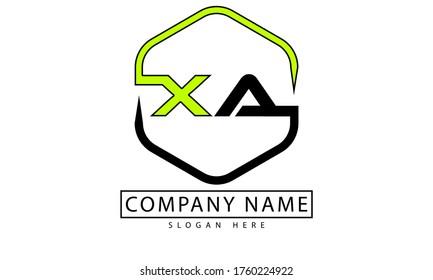 XA or X A letter logo design. letter XA initial based logo template