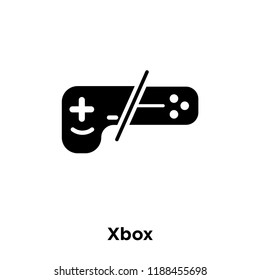 Xbox icon vector isolated on white background, logo concept of Xbox sign on transparent background, filled black symbol