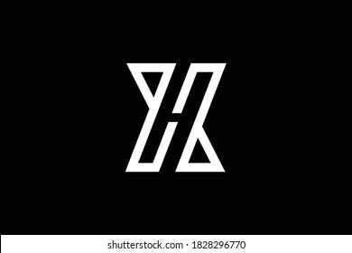 XH letter logo design on luxury background. HX monogram initials letter logo concept. XH icon design. HX elegant and Professional letter icon design on black background. H X XH HX