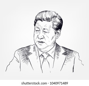 Xi Jinping vector sketch illustration
