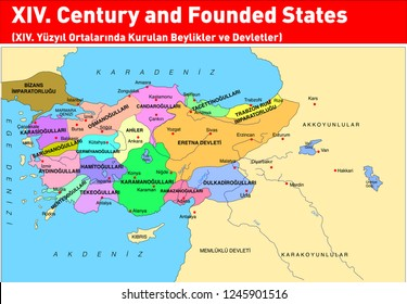 XIV. Mid Century established in Turkey - the Ottoman dynasty and States