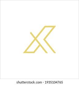 XK logo design vector sign