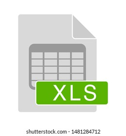 xls document icon. flat illustration of xls vector icon. xls sign symbol