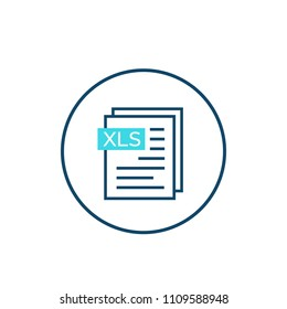 xls document vector icon