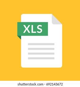 XLS file icon. Spreadsheet document type. Modern flat design graphic illustration. Vector XLS icon