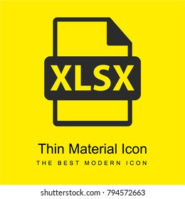 XLSX file format extension bright yellow material minimal icon or logo design