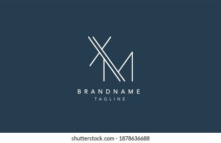 XM Alphabet initial Letter Monogram Icon Logo vector illustration