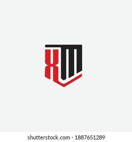 XM character Logo look like 3D
