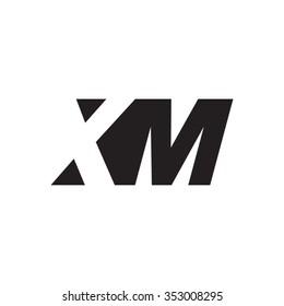 XM negative space letter logo