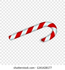 Xmas candy stick icon. Realistic illustration of xmas candy stick vector icon for web design