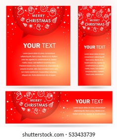 Xmas cover design. Merry christmas theme. Set flyer, banner, roll up banner.