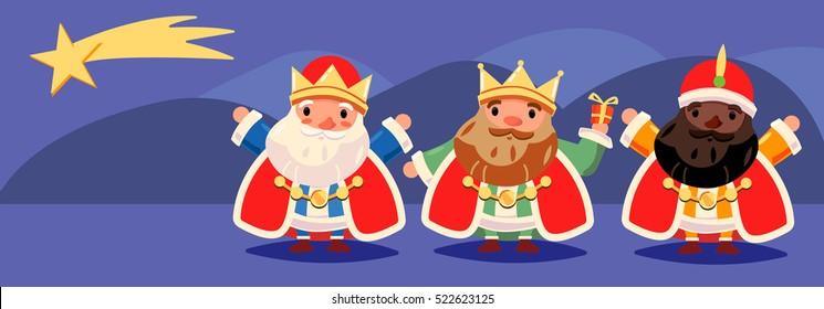 Xmas, Mages Kings in Spain