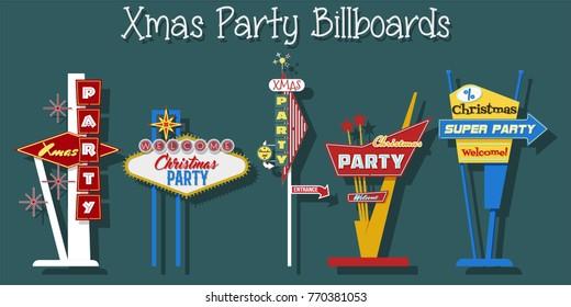 Xmas Party Billboard Set