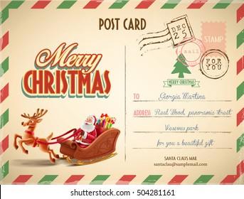 xmas postcard