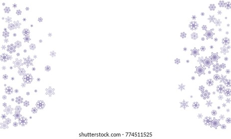 xmas theme sale with ultraviolet snowflakes winter border for flyer gift card party