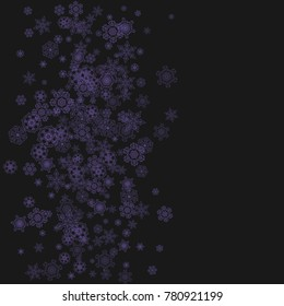 xmas theme sales with ultraviolet snowflakes winter border for gift coupons vouchers ads