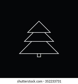 Xmas Tree Icon Black