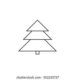 Xmas Tree Icon White
