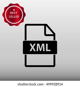 XML File Type Vector Icon Illustration