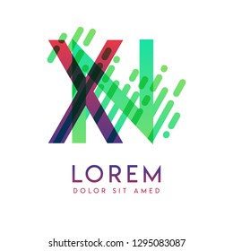 XN logo with the theme of galaxy speed and style that is suitable for creative and business industries. NX Letter Logo design for all webpage media and mobile, simple, modern and colorful