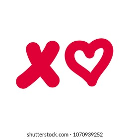 XO, Text with Heart