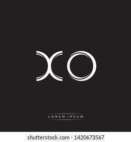 xo x o Logo Initial Letter Split Lowercase Modern Monogram Template Design