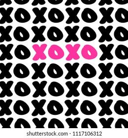 XOXO Text Background