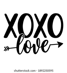 XoXo - Valentine's Day Greeting card - Calligraphy phrase for Christmas or other gift. Modern brush lettering phrase. Hand drawn design elements, Xmas greetings cards, invitations. Holiday quotes.