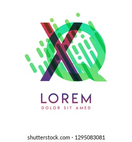 XQ logo with the theme of galaxy speed and style that is suitable for creative and business industries. QX Letter Logo design for all webpage media and mobile, simple, modern and colorful