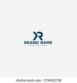 XR Letter Logo Design Template Vector