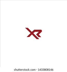 XR X R Letter Logo Design