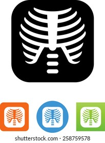 X-Ray of a human rib cage icon