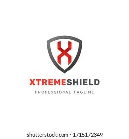Xtreme Shield Logo Vector Icon Template