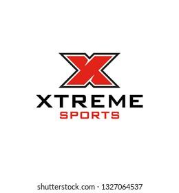 Xtreme X Letter Sport Logo Template Vector Icon Design - Vector