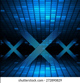 xxx glowing text on a dark blue background. Only adults. disco. pub. Tables mosaics pixel background. night club, bar, infographic. kamasutra. recreation.