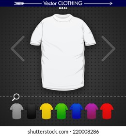 Xxxl T-Shirt (White, Grey, Black, Yellow, Green, Blue, Purple, Red)