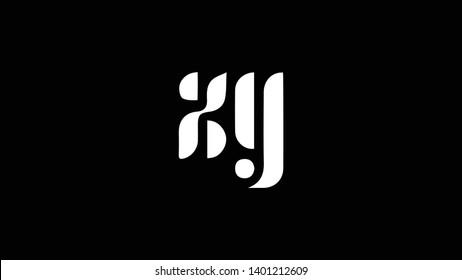 XY logo design template vector illustration minimal design