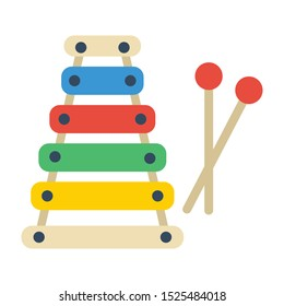 xylophone flat icon. You can be used xylophone icon for several purposes.