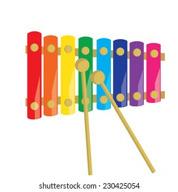 Xylophone, xylophone isolated, musical instruments, percussion, kids xylophone