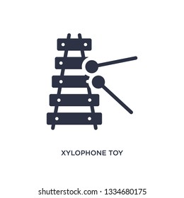 xylophone toy icon. Simple element illustration from toys concept. xylophone toy editable symbol design on white background. Can be use for web and mobile.