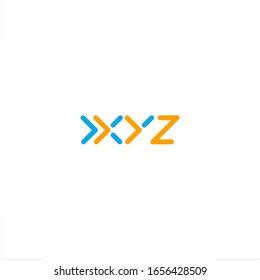 XYZ letter logo initial design