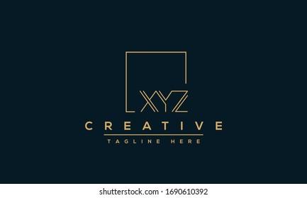 XYZ Logo Design Template Vector monogram. Modern letters XYZ.