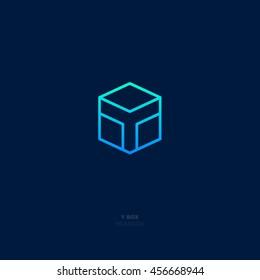 Y box logo. Transportation and industry icon. Flat emblem.