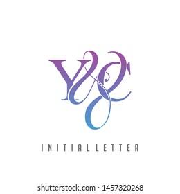 Y & C YC logo initial vector mark.