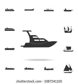 yacht boat icon. Detailed set of water transport icons. Premium graphic design. One of the collection icons for websites, web design, mobile app on white background